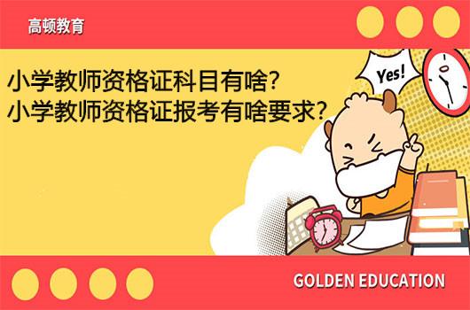 小学教师资格证科目有啥?小学教师资格证报考有啥要求?