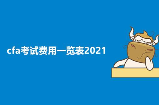 2021年CFA考試費用一覽表,一文解答你所有的報考疑惑