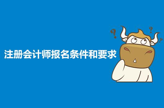 注册会计师报考条件和要求是什么?具体报考流程又是什么样的?
